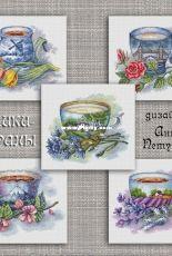Anna Petunova - Country Cups - Tea in Holland - Tea in London - Tea in Russia - Tea in Japan - Tea in France