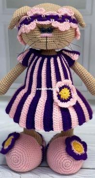 Gala Toys Shop - Galina Ptashkina - Lavender Clothes Set - ENGLISH