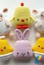RNata - Crochet Easter Bunny, Sheep, Egg and Chicken, Pattern, English