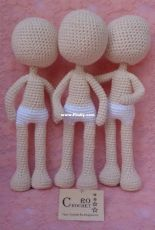 Crochet Ro Amigurumis- Roxana Jaime– Body Base with feet-Spanish - Free
