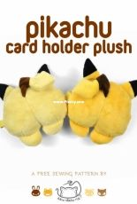 Choly Knight - Sew Desu Ne - Pikachu Card Holder Plush - Free