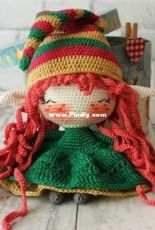 Crochet Confetti Shop - Irina Moilova- Christmas Elf Doll - Spanish