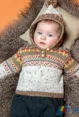 Jacquard Baby Sweater by Yarnplaza.com - Free