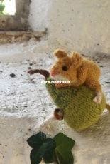 Mouse on a Pear by Claire Garland