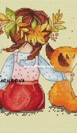 Polina Tarusova Autumn girl
