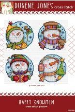 Durene Jones DJXS2254 - Happy Snowmen