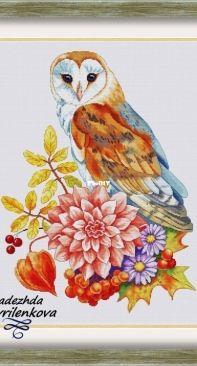 Autumn Owl by Nadezha Gavrilenkova