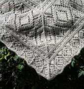 Miralda's Triangular Shawl finished