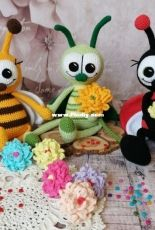 Olya And Toys - Olga Skarlatyuk - 3in1 Ladybug, Bee and Grasshopper- Russian