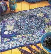 Peacock Rug from Art Nouveau Cross Stitch by Barbara Hammet