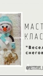 Muñeco de nieve divertido-Prettytoys Handmade-Russian