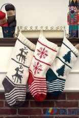 Plymouth Yarn-F775 Christmas Stocking Trio by Vanessa Ewing-Free