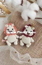 Crochet Pattern By Lily - moi prelesti - Liliya Sharipova - Baby Lion brooch