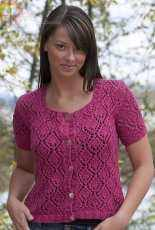 All Over Lace Cardigan by Vera Sanon -Free