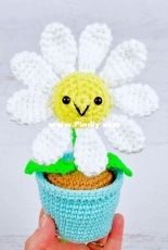 Yarn Blossom Boutique - Melissa Bradley - Potted Daisy - Free
