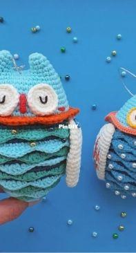 Natura crochet and Granny's crochet hook -Owl - Russian - Translated