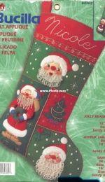 Bucilla 84382 Jolly Beaded Santa Felt Stocking