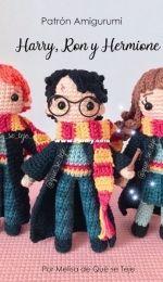 Que Se Teje Amigurumis - Melisa Valdes - Harry, Ron and Herimone - Harry, Ron y Hermione - Spanish