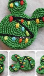 Colorful Easy Crochet - Olga Tarasova - Crochet Pattern Mickey and Minnie Christmas ornament - The Christmas tree