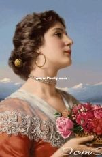 EstE 338 - Lady with a Basket of Roses XSD