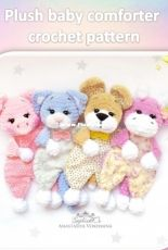Sophie and Co - AVokhmina Patterns - Anastasia Vohmina - Anastasiya Vokhmina - Plush baby comforter - Series 3