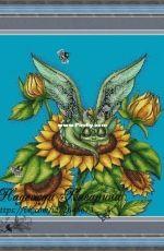 Dragon in the sunflowers by Nadezhda Kazarina