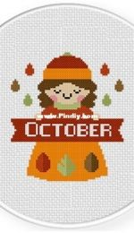 Daily Cross Stitch - October Maiden