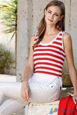 5804 Striped Top of Cotton 8 by Scheepjes - Free