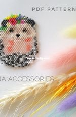Hedgehog brooch by Elena Accessories Art