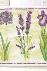 Flower Canvas -  Purple Flowers by Durene Jones from Cross Stitch Gold 121