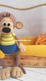 Ka.malinka toys - Monkey Makki - Oбезьянкa Макки - Russian