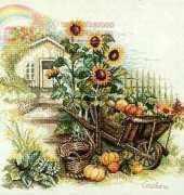 Lanarte 34623 PN-0007988 Wheelbarrow and Sunflowers XSD
