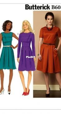 Butterick B6089 - Misses Petite Dress sizes 6-14