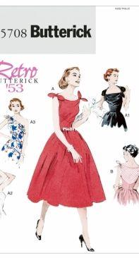 Butterick Retro B5708 - Vintage Dress