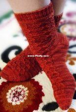 Kerriknits Designs- Kerri Blumer - Baltic Amber Socks