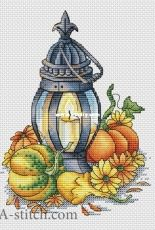 Lantern with Pumpkins by Svetlana Sichkar