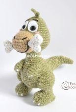 Elisas Crochet - Elisa Sartori - Albert the dinosaur amigurumi
