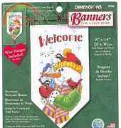 Dimensions 8758 Snowman Welcome Banner