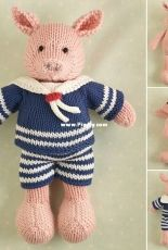 boy pig by little cotton rabbits