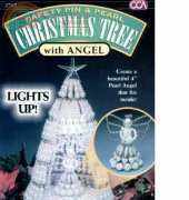 Mac Enterprises-Safety Pin & Pearl Christmas Tree with Angel