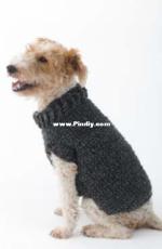 Lion Brand Yarn - L32350 The Poet Dog Sweater - Free