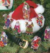 Dimensions 08488 Santa Collection Ornaments