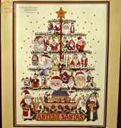 Dimensions GOLD 08451 - Antique Santa Tree in XSD