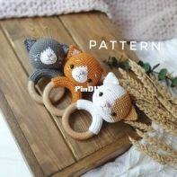 Fairy Toys by Inna Chi - Inna Chi Hm - Inna Chibinova / Chybinova - Kitten baby Rattle (English)
