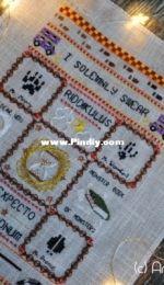 [by FunnyFerret from etsy] Harry Potter Book series Inspired Cross Stitch Pattern Sampler, part 3 Prisoner of Azkaban
