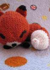 Knit Sleepy Fox Amigurumi by Amanda Michelle