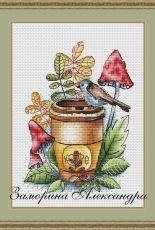 Birdie and Coffee by Alexandra Zamorina - Александра Заморина