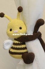 Bee toy, Window Tiebacks Holder
