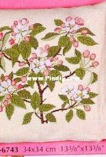 Haandarbejdets Fremme 20-6743 - Aeblelomst (Apfelblüte) by Gerda Bengtsson