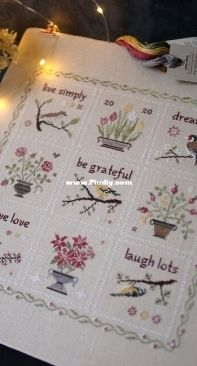 Live Simply Sampler  by Bluebird Needleworks